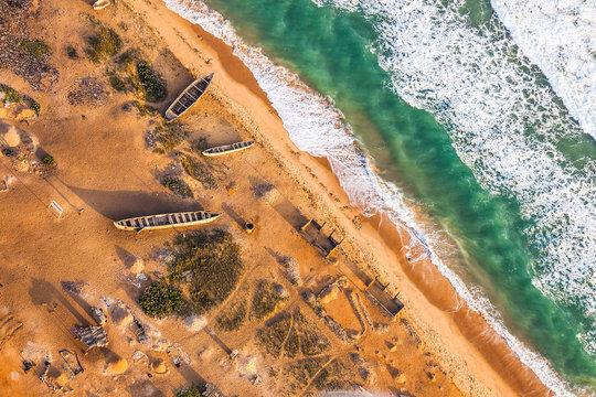 Vista aerea de la costa de Togo