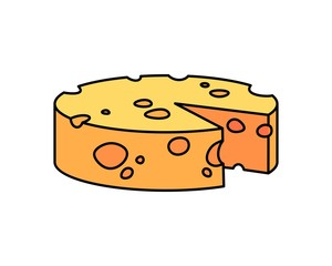 Cheese Cartoon Vector Illustration