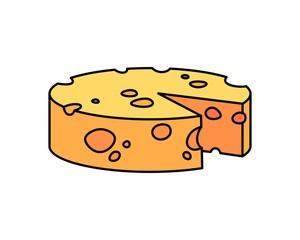 Cheese Cartoon Vector Illustration