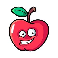Apple Mascot Logo Cartoon Vector Illustration