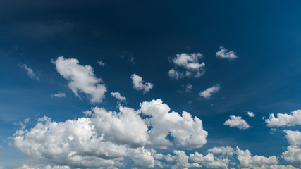 Wonderful white clouds on blue sky panorama