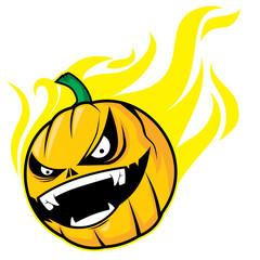 Burning Pumpkin Head