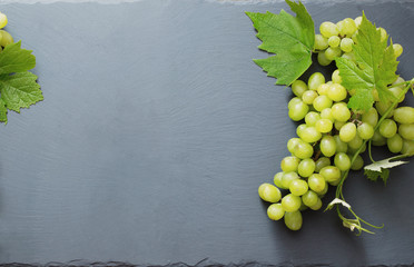 green grape on stone background