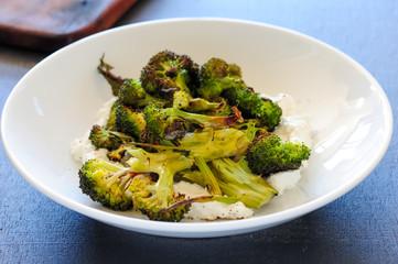 Homemade saladwith broccoli, balanced meal