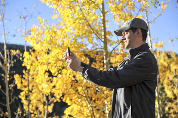 Tourist Aspen Selfie