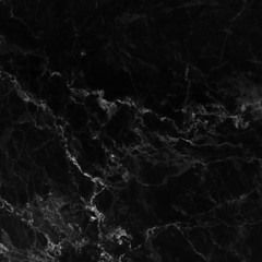 Black marble natural pattern for background, abstract black and white