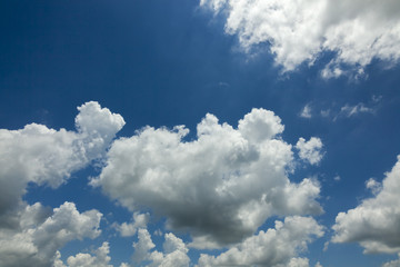 blue sky and cloud beautiful vivid in nature background.