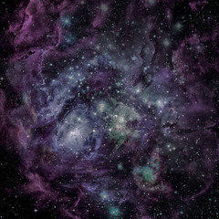 Universe filled with nebula, stars and galaxy. Elements of this image furnished by NASA.