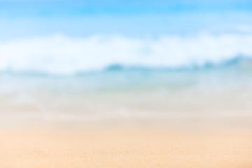 Blurred beach background.