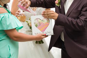 Sand rite at wedding, Wedding rites