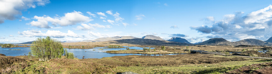 The amazing landscape of Rannoch Moor next to Glencoe
