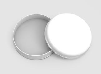 Short metal tin mockup
