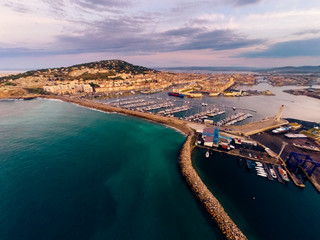 Aerial View Of Sete, France