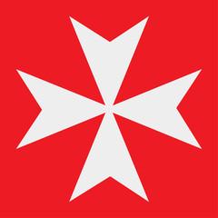 Vector icon: Maltese Cross of the Order of St. John.