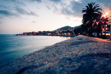 Boardwalk Along The Beach In Ajaccio, Corsica