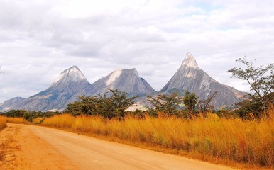 inselburgs in Northern Mozambique