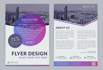 Business flyer template. Wall mural