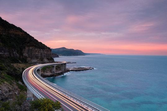 Sea Cliff Sunset