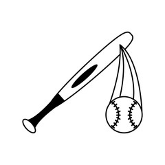 baseball ball and bat icon image vector illustration design