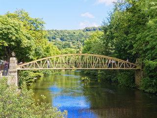 Jubilee Bridge, Matlcok Bath, Derbyshire.