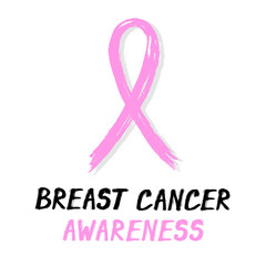Symbolic ribbon - pink - breast cancer awareness