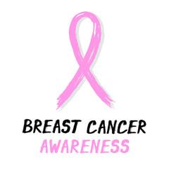 Symbolic ribbon - pink - breast cancer awareness