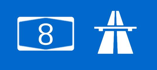 A8 Bundesautobahn Schild