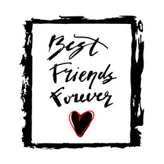 friend, forever, friendship, lettering, card, inscription, text, best, day, greeting