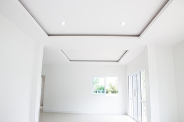Empty ceiling room modern house