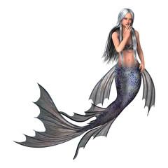 3D Rendering Fairy Tail Mermaid on White