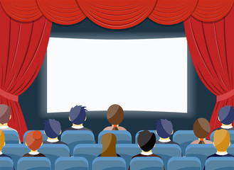 cinema watch movie theater empty screen template