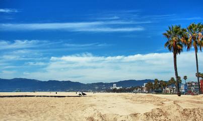 American beach of Santa Monica - California