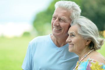 caucasian senior couple  posing
