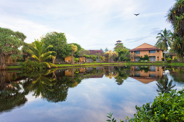 Glassy Lake Marawila, Sri Lanka, Asia
