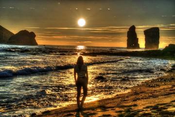Coucher de soleil à Mosteiros (Sao Miguel - Açores)