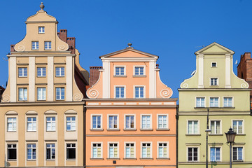 Baroque Facades of the Salt Square of Wroclaw