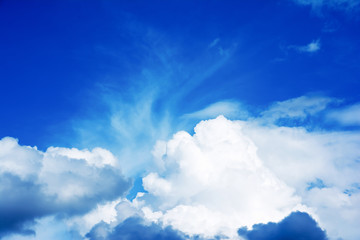 blue sky with cloud.Beautiful blue sky with white clouds background