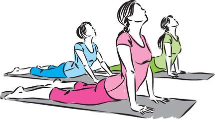 women yoga vector illustration