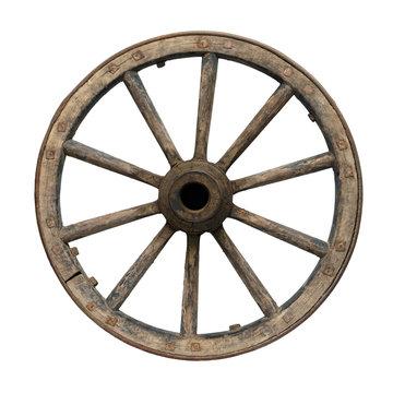 Old waggon wheel
