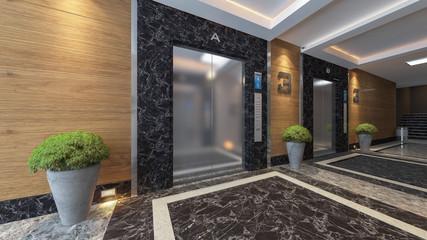 modern metal elevator design