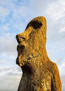 Moai in Ahu Tongariki, Rapa Nui National Park, Easter Island, Chile
