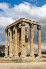 Temple of Olympian Zeus or Olympieion, Athens, Attica, Greece