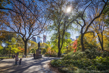 USA, New York, New York City, Central Park, autumn
