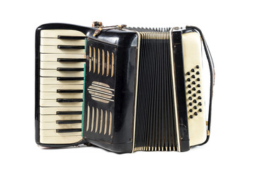 Very old black accordion