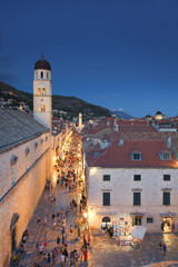 View of Dubrovnik Old Town from the City Walls, Croatia