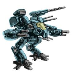 The combat vehicle. Science fiction illustration.
