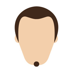 man with goatee avatar icon image vector illustration design