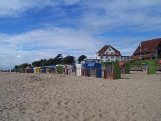 Beach chairs at Baltic Sea
