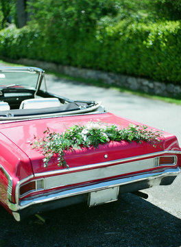 vintage wedding ride