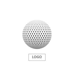 Halftone 3d sphere isolated on white background.